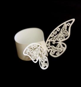 WhiteCat Laser-cut Butterfly Serviette Rings