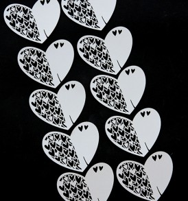 WhiteCat Laser-Cut Heart Embellishment