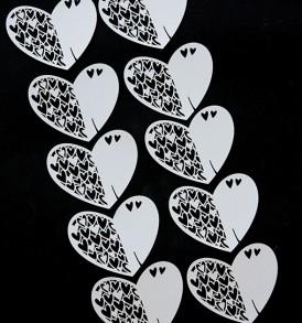 WhiteCat Laser-Cut Heart Embellishment