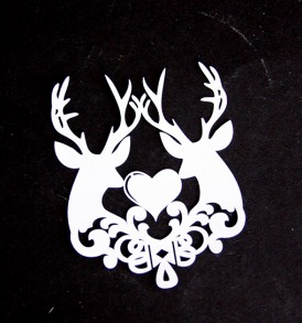 WhiteCat Laser-Cut Reindeer Embellishment