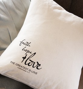 Cushions – Faith Hope & Love