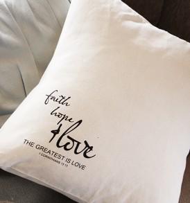 Cushions – Faith Hope & Love