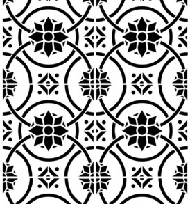 WC026 Geometric Flower Repeat Stencil