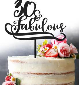 30th Cake Topper
