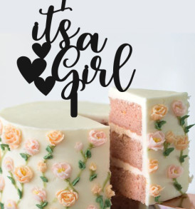 It's a Girl Baby Shower Cake Topper