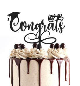 Congrats Graduation Cake Topper