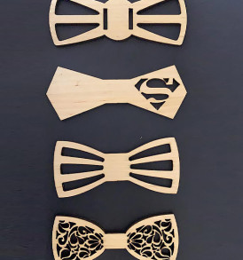 lasercut bow ties