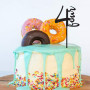 4th Birthday Cake Topper