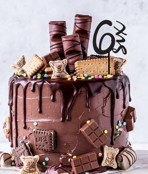 6th Birthday Cake Topper