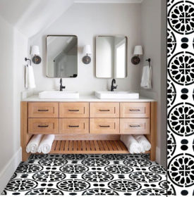 stencil bathroom revamp