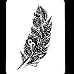 Bohemian Feather Stencil