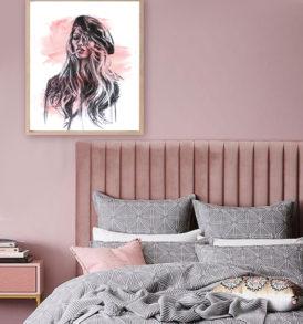 decor for blush colour scheme